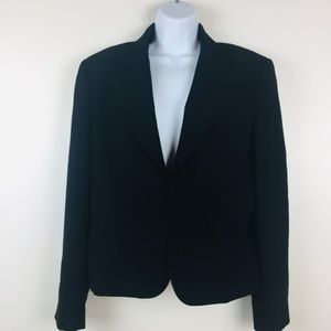 Tahari Blazer Womens 14 Black Hook Closure Lined A